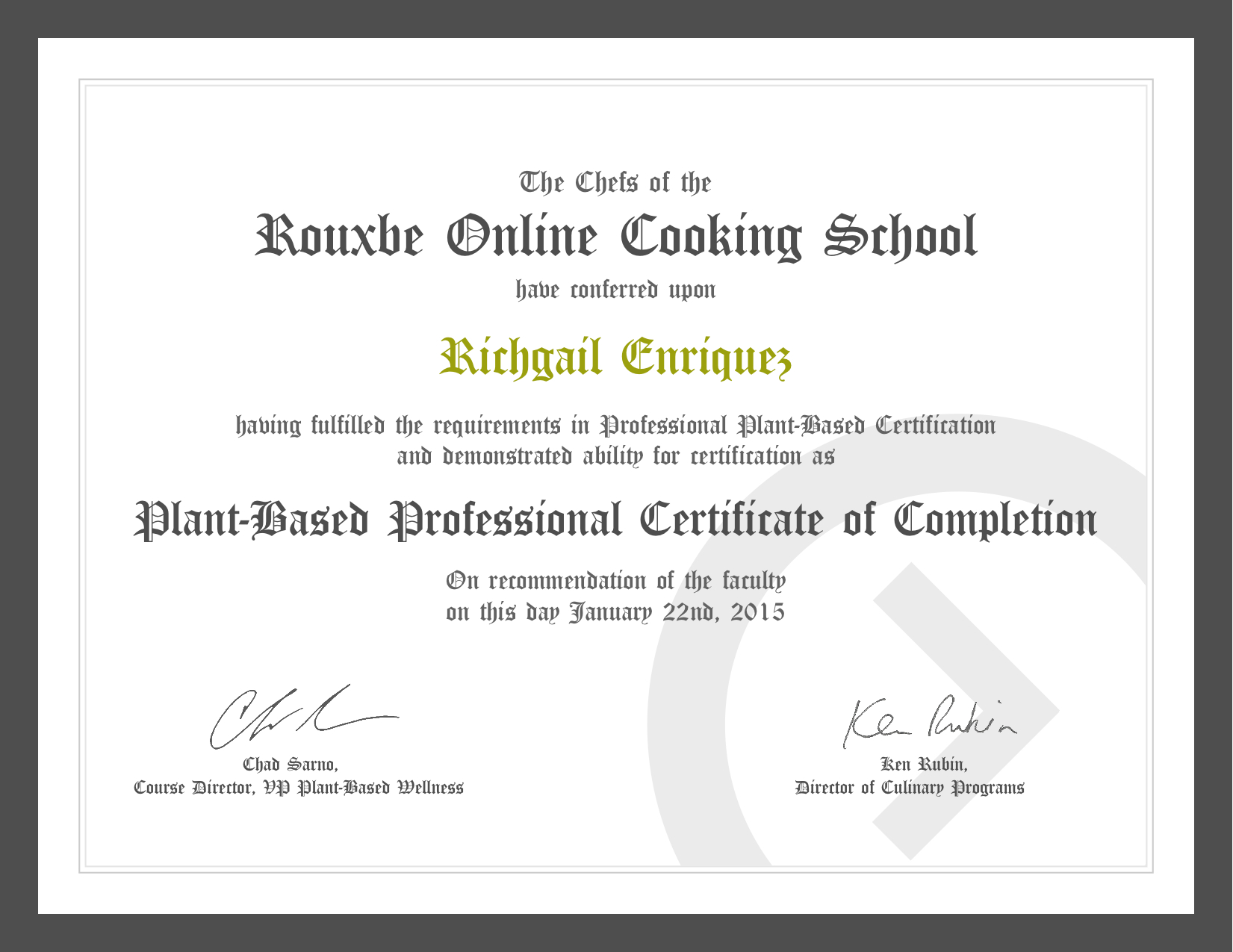 Worth it or not rouxbe online cooking school astig vegan this certificate is not just a piece of paper or eg its a symbol of my achievement and im extremely proud of it another reason to be proud is that 1betcityfo Choice Image
