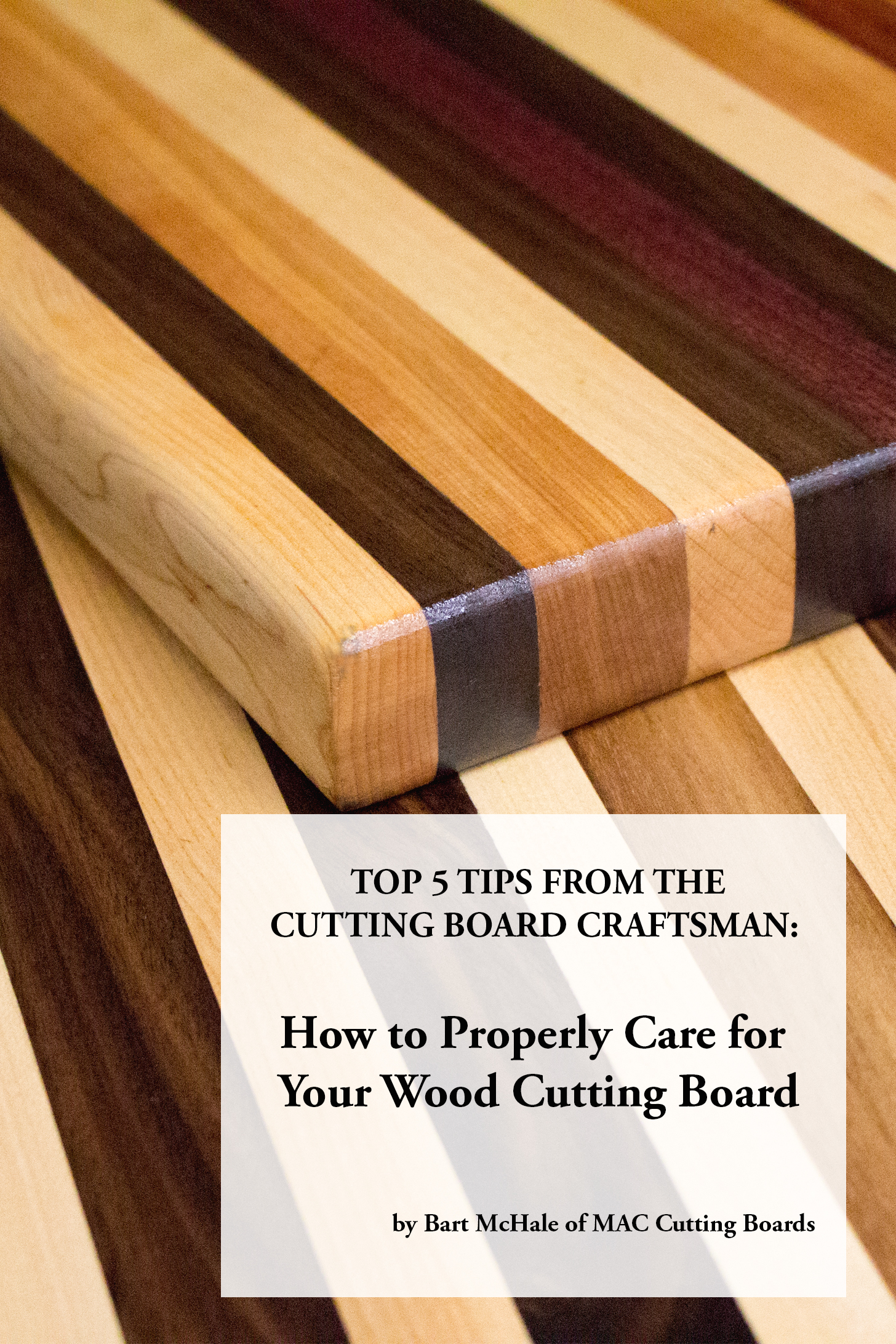 Top tips how to care for your wood cutting board